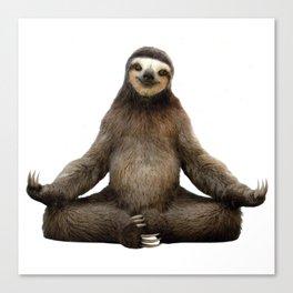 Sloth Yoga Art Print Canvas Print