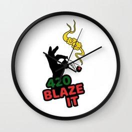 420 Blaze It Wall Clock