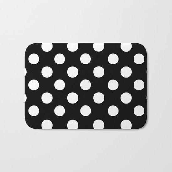 Polka Dots (White/Black) Bath Mat