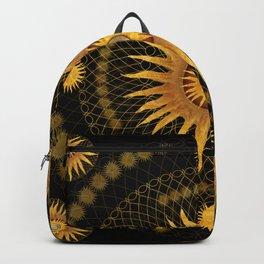 """Black & Gold Vault Mandala"" Backpack"