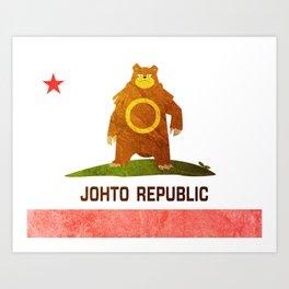 Ursaring - Johto Republic Art Print