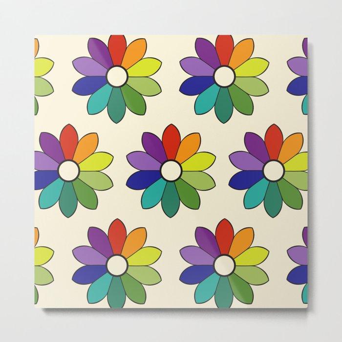 Flower pattern based on James Ward's Chromatic Circle (enhanced) Metal Print