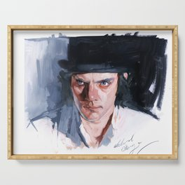 Malcolm McDowell Serving Tray