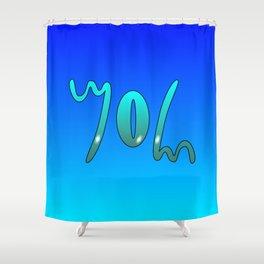 John (Ambigram) Namendreher Shower Curtain