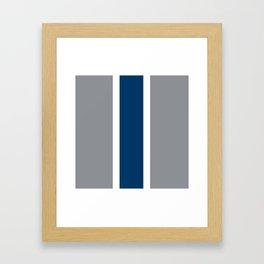 TEAM COLORS 10 ...GRAY ,NAVY Framed Art Print