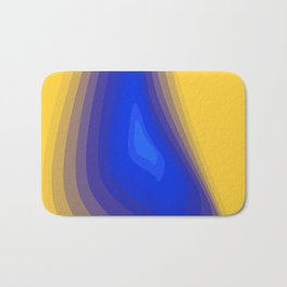 Blue and yellow Bath Mat