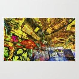 London Graffiti Van Gogh Rug