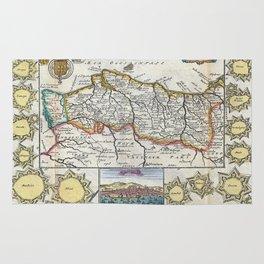 Vintage Map of Portugal (1747) Rug