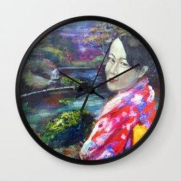 Japanese Lady Wall Clock