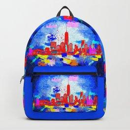 NYC Grunge Skyline Backpack