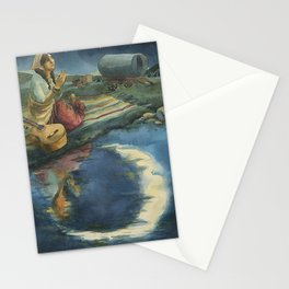 Gypsy Praying to the Moon Stationery Cards