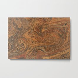 Marbled Bronze paper Metal Print