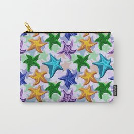 Glitter Beaded Starfish Carry-All Pouch