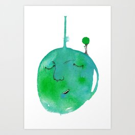 Planet Earth Art Print