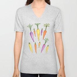 Heirloom Carrots on Cream Unisex V-Neck