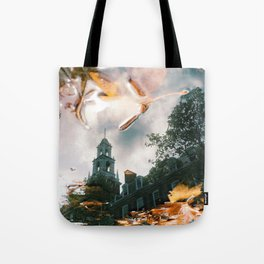 Rainy Autumn Day Tote Bag