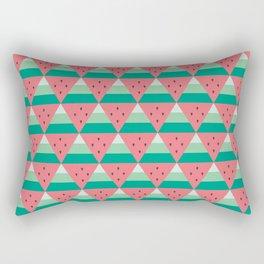 Geometric Summer Watermelon Rectangular Pillow