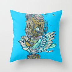 Bird Migration Throw Pillow
