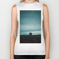 iceland Biker Tanks featuring Iceland View by MarsStation
