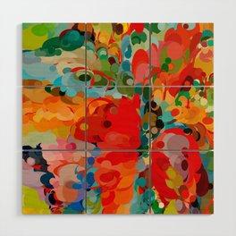 color bubble storm Wood Wall Art