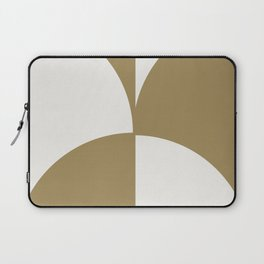 Diamond Series Round Checkers Gold on White Laptop Sleeve