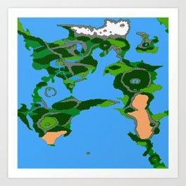 Final Fantasy II Japanese Overworld Art Print