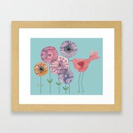 "Birdy blue ""Speak to me!"" Framed Art Print"