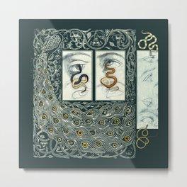 Snake Eyes :: Fine Art Collage Metal Print