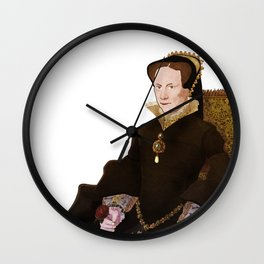 Mary Tudor - historical illustrations Wall Clock