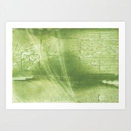 Bright green abstract Art Print