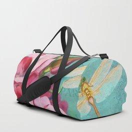 Verdigris Pink Magnolias Duffle Bag