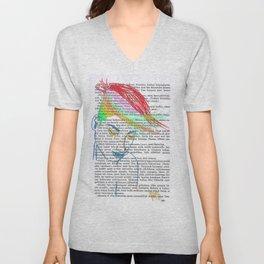 Rainbow Hair Unisex V-Neck