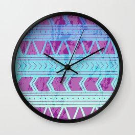Berry Breeze Geometric Pattern Wall Clock