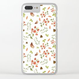 Red Flowers Clear iPhone Case