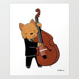 Norwich Terrier Jazz Musician (Dogs with Jobs series) Art Print