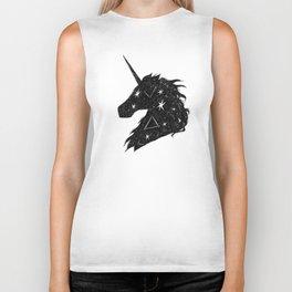 Black Unicorn Biker Tank
