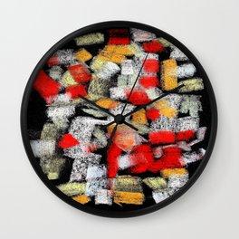 Abstract multicolor mosaics Wall Clock