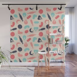 Kitty Shapes Pattern Wall Mural