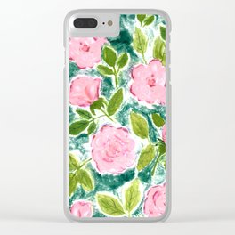 Roses in Bloom Clear iPhone Case