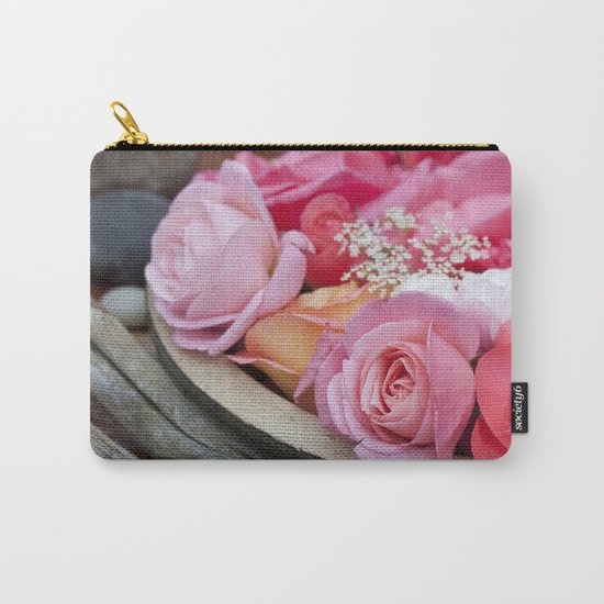 Pink Roses Romantic Still Life Carry-All Pouch