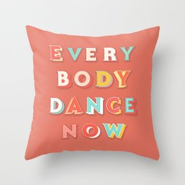 DANCE - typography Throw Pillow