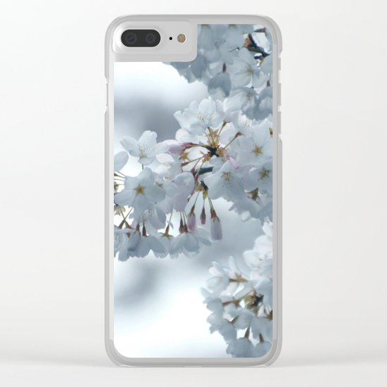 COOL BLOSSOMS Clear iPhone Case