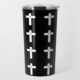 Christian Cross 30 with heart Travel Mug
