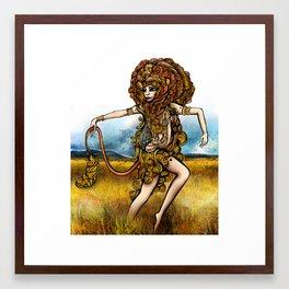 Astrology Illustration Series-Leo Framed Art Print