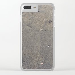 Pebbles on the sand Clear iPhone Case