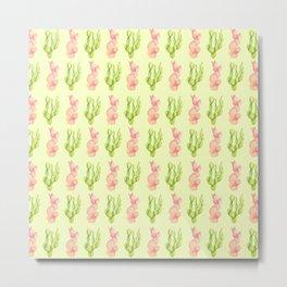 green and pink cactus Metal Print