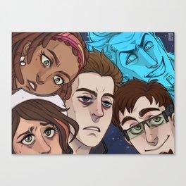 Space Cowdudes Canvas Print