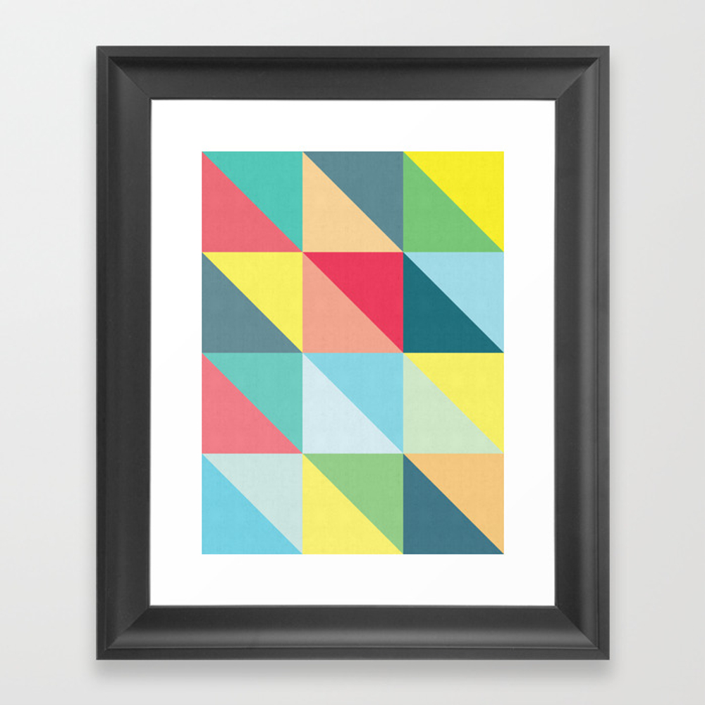 Vibrating Triangles Framed Art Print by Artvitorcosta FRM8984438