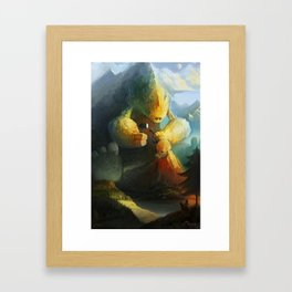 Mountain Birth Framed Art Print