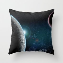 Planet X2 Throw Pillow
